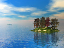 Karelia_Island3 ilustração stock