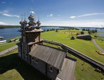 Kizhi, a museum of wooden architecture royalty free stock images