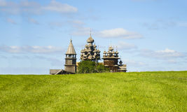Karelia, Kizhi, Russia - August, 2015: North Russian wooden architecture - open-air museum Kizhi,. Karelia Royalty Free Stock Photography