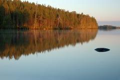 karelia krajobrazowych noc biegunowy Russia biel Zdjęcia Stock
