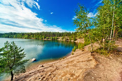 Karelia lake panorama Royalty Free Stock Photos