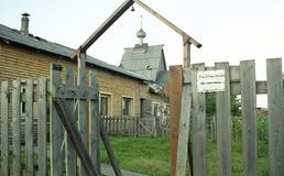 Karelia Miasto Kem Dwuczłonowy Solovetsky monaster obrazy royalty free