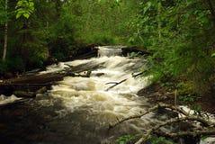 karelia vattenfall Royaltyfri Bild