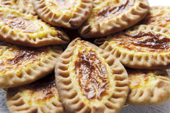 Karelian and Finnish cakes with potatoes Stock Images