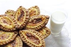 Karelian and Finnish cakes with potatoes Stock Photos