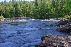Karelian flod Arkivbild