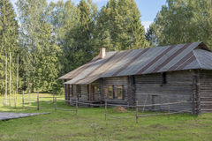 Karelian house (the second half of the XIX century) Stock Image