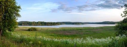 Karelian jezioro Fotografia Royalty Free
