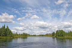 Karelian landscape Royalty Free Stock Images