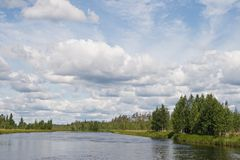 Karelian landscape Stock Photos