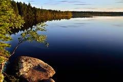 Karelian landscape. Lake Pongoma, Karelia, Russia Stock Photography