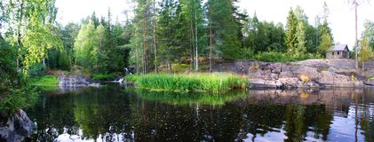 Karelian landscape. The Republic Of Karelia Royalty Free Stock Photography
