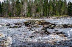 Karelien-Fluss lizenzfreie stockbilder