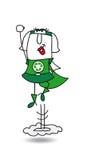 Karen de super recyclerende vrouw in actie stock illustratie