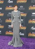 Karen Gillan. At the premiere of Disney and Marvel`s `Avengers: Infinity War` held at the El Capitan Theatre in Hollywood, USA on April 23, 2018 Royalty Free Stock Photography
