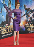 Karen Gillan. LOS ANGELES, CA - JULY 21, 2014: Karen Gillan at the world premiere of her movie Guardians of the Galaxy at the El Capitan Theatre, Hollywood Royalty Free Stock Photos