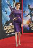 Karen Gillan. LOS ANGELES, CA - JULY 21, 2014: Karen Gillan at the world premiere of her movie Guardians of the Galaxy at the El Capitan Theatre, Hollywood Stock Image