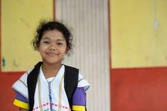 Karen-Kinder von Banbongtilang-Schule lizenzfreie stockfotos