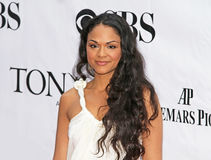 Karen Olivo Arrives in 64ste Tonys in 2010 Royalty-vrije Stock Foto's