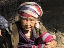 Karen plemienia starsza osoba - Tajlandia Zdjęcia Stock