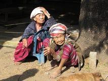 Karen plemienia starsze osoby - Tajlandia Obraz Royalty Free