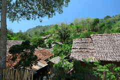 Karen refugee camp in Tak province,Thailand Stock Image