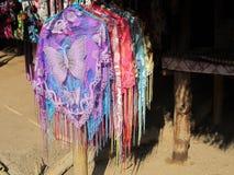 Karen Shawl Handiwork. Karen Hill Tribe shawl handiwork Thailand Stock Image