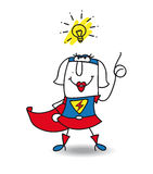 Karen the Superwoman Stock Images