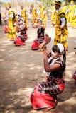 Karen Traditional Folk Dance Royalty-vrije Stock Foto's