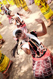 Karen Traditional Folk Dance Immagine Stock