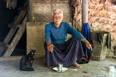 Karen tribe elderly healthy man Royalty Free Stock Image