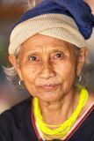 Karen tribe elderly woman Stock Photo