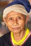 Karen tribe elderly woman Stock Photo