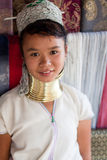 Karen tribe girl. A young girl from the Karen tribe in a north Thai market Stock Photography