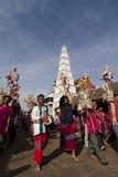 Karen tribes in buddhist ceremony Stock Photography