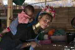 Karen Tribeswoman, Tailandia Imágenes de archivo libres de regalías