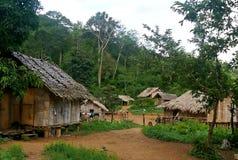 Karen village. A village of the Karen thai tribe stock image