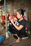 Karen village in Thailand royalty free stock images