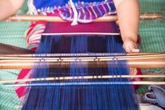 Karen woman weaving of the Karen tribe  Hand-made in chiangmai thailand Royalty Free Stock Image