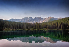 Karerlake in Italia Fotografia Stock