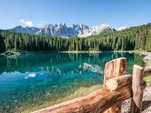 Karerlake in Italia fotografie stock