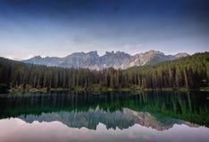 Karerlake in Italien Stockfotografie