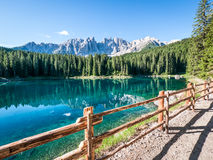 Karerlake in italy Royalty Free Stock Images