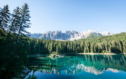 Karerlake in italy Royalty Free Stock Photography