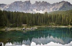 karersee της Ιταλίας Στοκ Φωτογραφίες