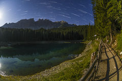 Karersee, Dolomites - Italy Royalty Free Stock Images