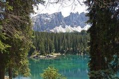 Karersee, Italie Photos libres de droits