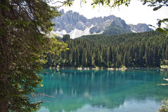 Karersee, Italie Photo stock