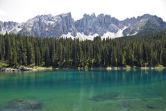 Karersee,Italy stock photography