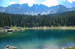 Karersee (lake of Carezza) Stock Photos